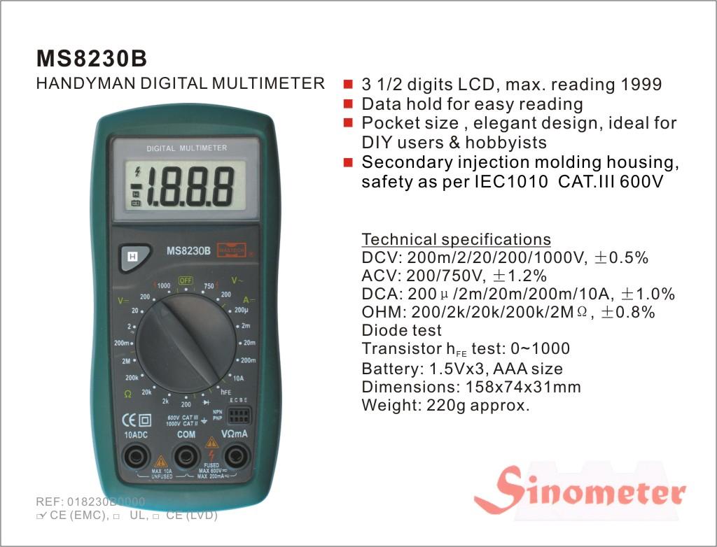 Приборы, инструменты, прочее оборудование/Приборы измерительные.  Группа: Мультиметры Описание : Мультиметр цифр...