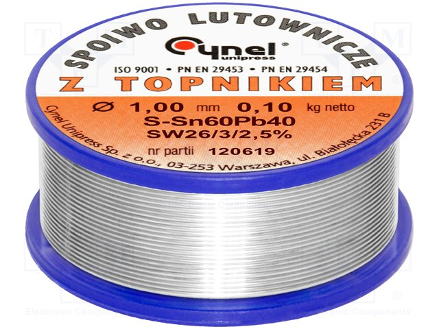 LC60-1.00/0.1 припой без флюса