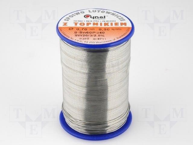 LC60-0.70/0.5 Проволочный припой Sn-60% Pb-40% 0,70мм 0,5кг