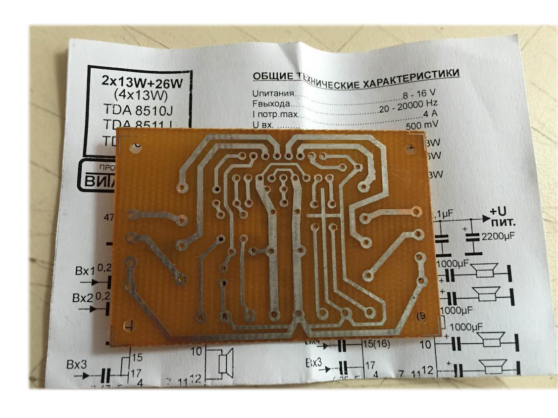 4x40w Car Amplifier Circuit Tda8571j Schema 3 213 26411