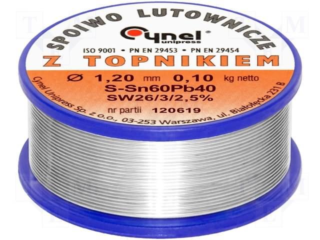 LC60-1.20/0.1 Проволочный припой Sn-60% Pb-40% 1,20мм 100г
