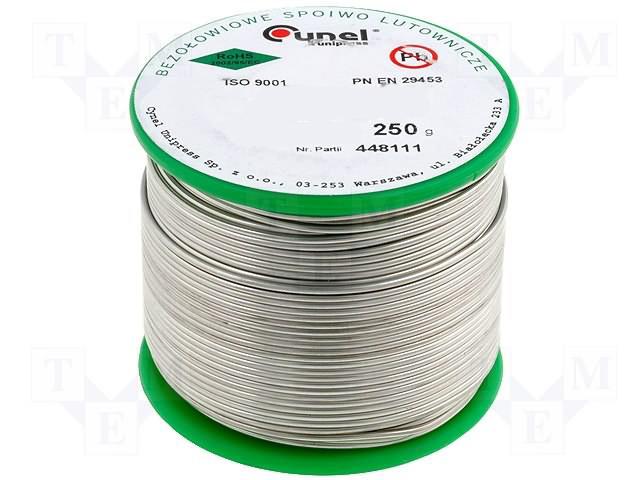 SAC305 (Sn96,5Ag3,0Cu0,5) 1.1.3/3/3% 0,7мм/250гр